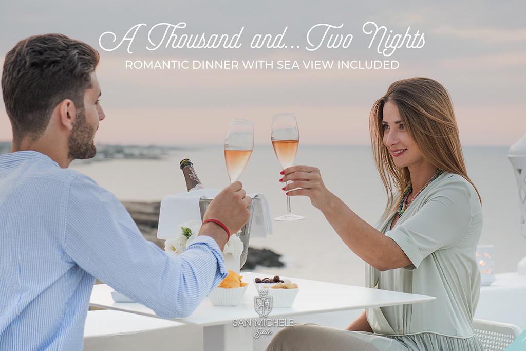 Mille e… due notti più cena romantica con vista mare